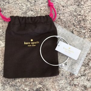 Kate spade silver bow bangle, NWT!